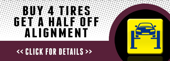 BUY 4 TIRES GET A 1/2 OFF ALIGNMENT! JACKSONVILLE, FL
